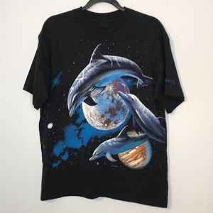 Vintage Habitat dolphin made in USA cotton t-shirt